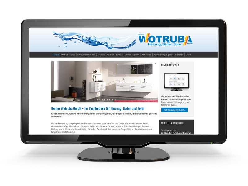 Screenshot Wotruba GmbH